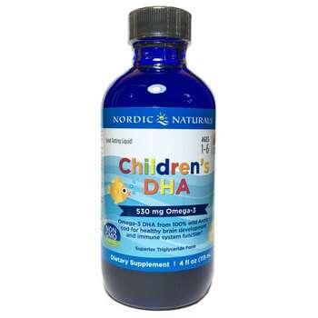 Купить Nordic Naturals Children's DHA 530 mg Strawberry 119 ml