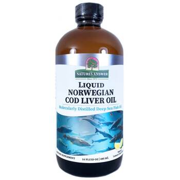 Купить Natures Answer Liquid Norwegian Cod Liver Oil Natural Lemon Li...