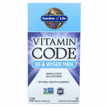 Купить Garden of Life Vitamin Code 50 & Wiser Men 120 Vegetarian Caps...