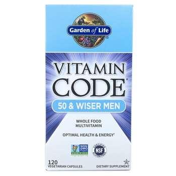 Купить Garden of Life Vitamin Code 50 & Wiser Men 120 Vegetarian Caps...