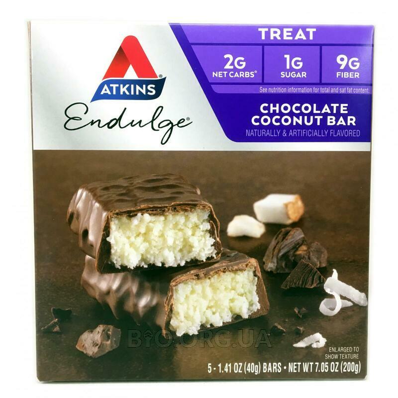Аткинс шоколадный батончик кокосовая начинка 5 батончиков 40 г... фото товара