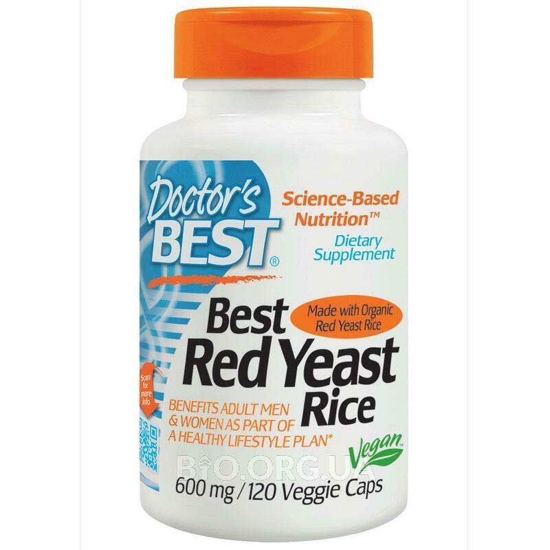 Красный дрожжевой рис 600 мг 120 вегетарианских капсул фото товара