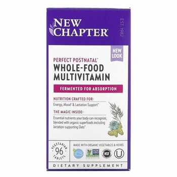 Купить New Chapter Perfect Postnatal Multivitamin 96 Tablets