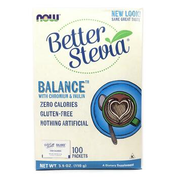 Купить Now Foods Better Stevia Balance with Chromium & Inulin 100 Pac...