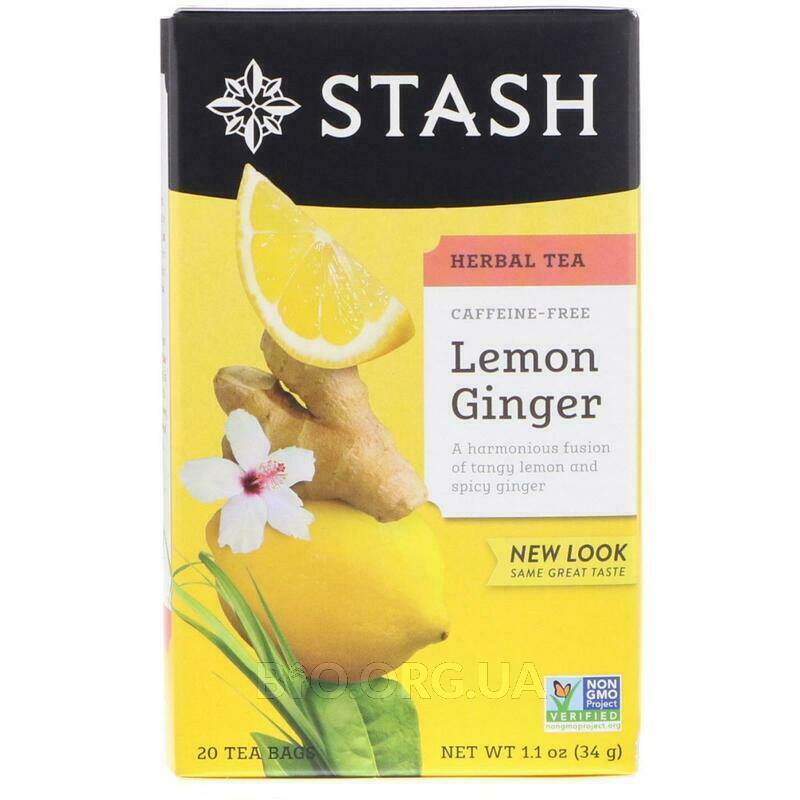 Premium Лимонный имбирь Травяной чай без кофеина 20 чайных пак... фото товара