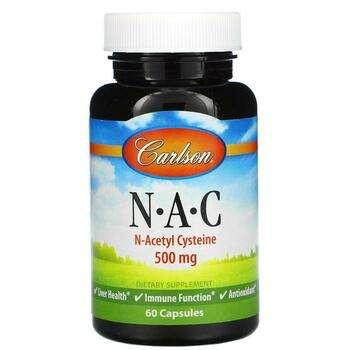 Купить N A C 500 mg 60 Capsules ( НАК N ацетилцистеїн 500 мг 60 капсул)