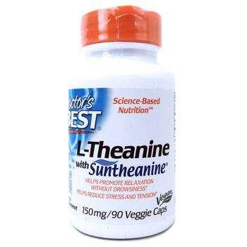 Купить Suntheanine L-Theanine 150 mg 90 Veggie Caps (L-Теанін з СанТе...