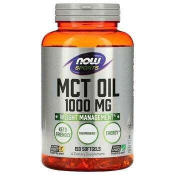 Купить Нау Фудс Триглицериды MCT Oil 150 капсул