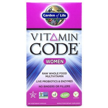 Купить Garden of Life Vitamin Code Women Raw Multivitamin 240 Veg Caps