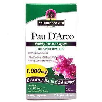 Купить Pau D'Arco 1000 mg 90 Capsules (Пау Дарко Кора мурашиного дере...