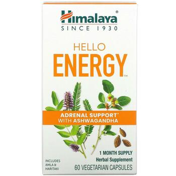 Купить Hello Energy Adrenal Support With Ashwagandha 60 Vegetarian Ca...