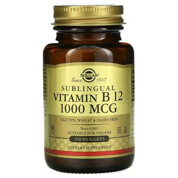 Купить Solgar Sublingual Vitamin B12 1000 mcg 250 Nuggets