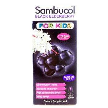 Купить Black Elderberry For Kids Syrup 120 ml