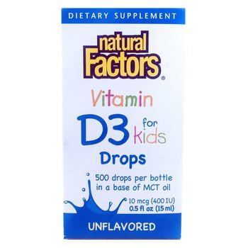 Купить Natural Factors Vitamin D3 Drops 400 IU 15 ml