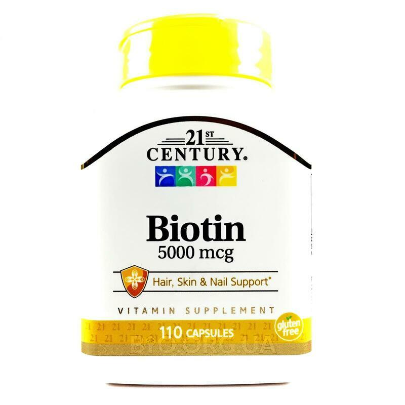 21 век Биотин 5000 мкг 110 капсул фото товара