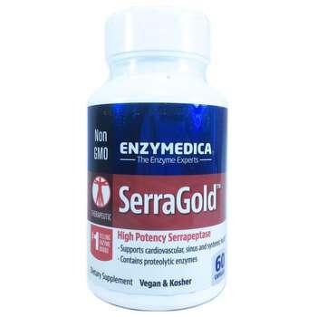 Купить SerraGold High Activity Serrapeptase 60 Capsules