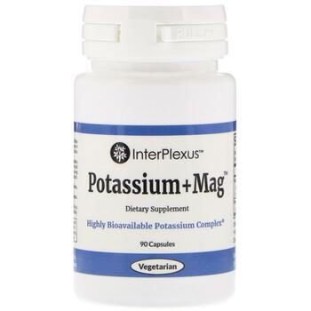 Купить InterPlexus Inc. Potassium+Mag 90 Capsules