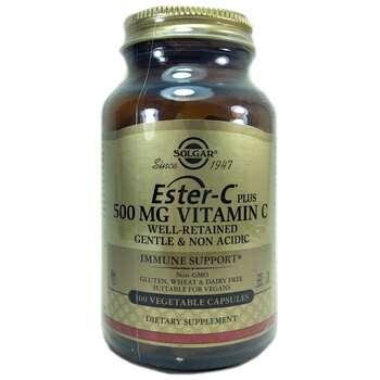 Купить Solgar Ester C Plus Vitamin C 500 mg 100 Vegetable Capsules