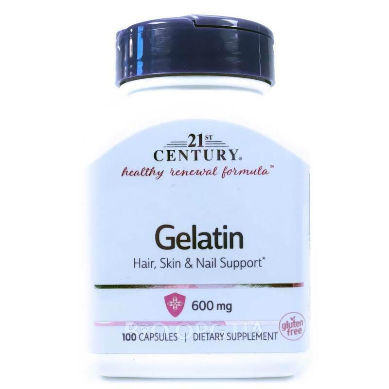 21 век Желатин 600 мг 100 капсул фото товара