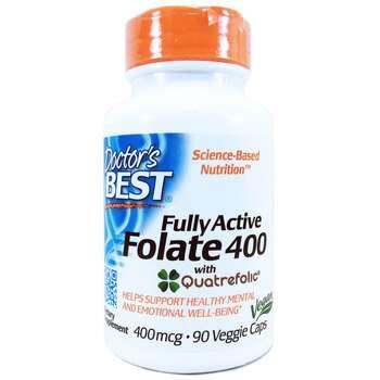 Купить Fully Active Folate 400 mcg with Quatrefolic 90 Capsules