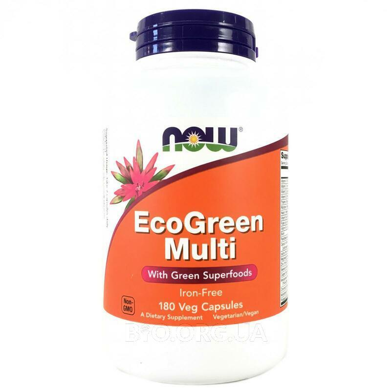 Мультивитамины EcoGreen без Железа 180 капсул фото товара