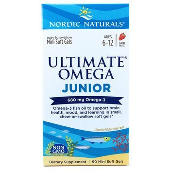 Купить Nordic Naturals Ultimate Omega Junior 680 mg 90 Mini Soft Gels