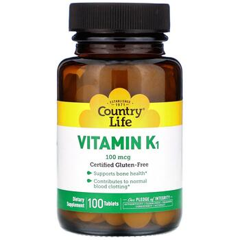 Купить Vitamin K1 100 mcg 100 Tablets