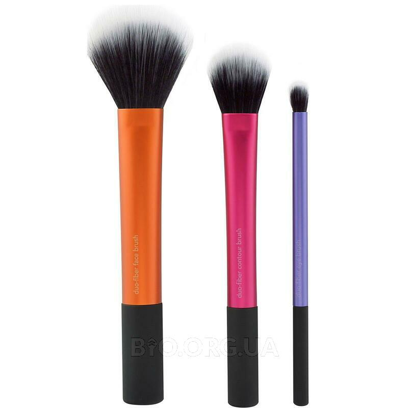Real Techniques by Sam and Nic Duo Fiber Collection 3 Brush Set фото товара