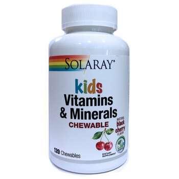 Купить Kids Vitamins & Minerals Black Cherry Flavor 120 Chewables
