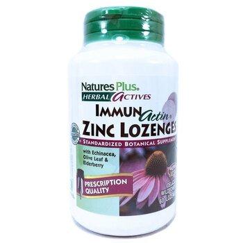 Купить Nature's Plus ImmunActin Zinc Wild Cherry 60 Lozenges