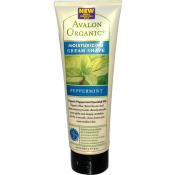 Купить Avalon Organics Moisturizing Cream Shave Peppermint 227 g