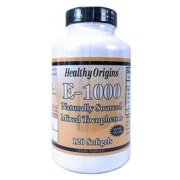 Купить E 1000 120 Softgels (Хелсі Оріджінс Вітамін Е 1000 МО 120 капсул)