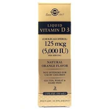 Купить Liquid Vitamin D3 5000 IU Orange Flavor 59 ml ( Рідкий Вітамін...