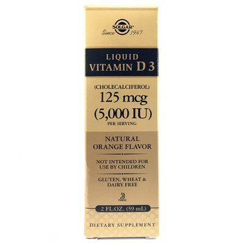 Купить Liquid Vitamin D3 5000 IU Orange Flavor 59 ml