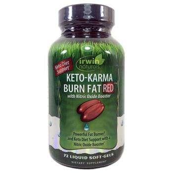 Купить Irwin Naturals Keto-Karma Burn Fat Red 72 Liquid Soft-Gels