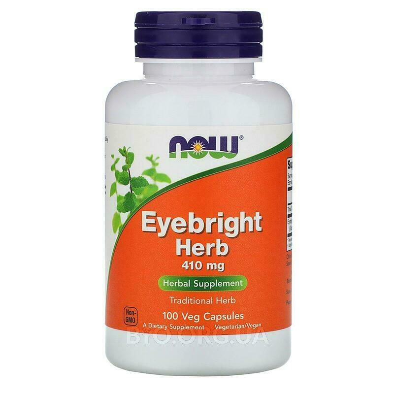 Now Foods Eyebright Herb 410 mg 100 Capsules