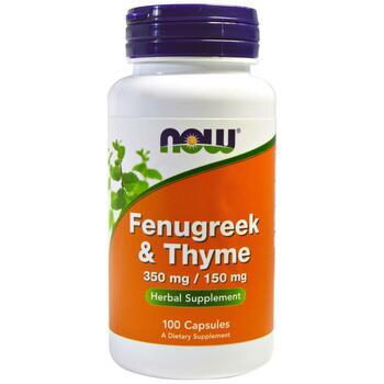 Купить Fenugreek and Thyme 350 or 100 mg 100 Capsules ( Гуньба і чебр...