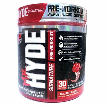 Купить Mr. Hyde Signature Pre-Workout Lollipop Punch 216 g