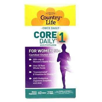 Купить Country Life Core Daily-1 Multivitamins Women 50+ 60 Tablets