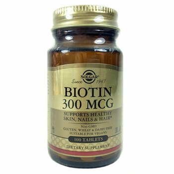 Купить Solgar Biotin 300 mcg 100 Tablets