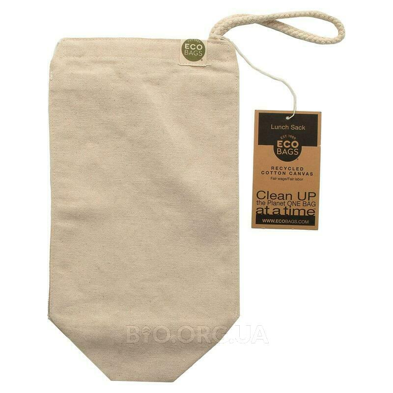 ECOBAGS Recycled Cotton Canvas Lunch Sack 1 Bag 7