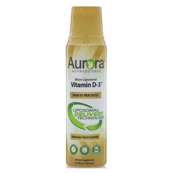 Купить Aurora Nutrascience Micro-Liposomal Vitamin D3 Organic Fruit F...