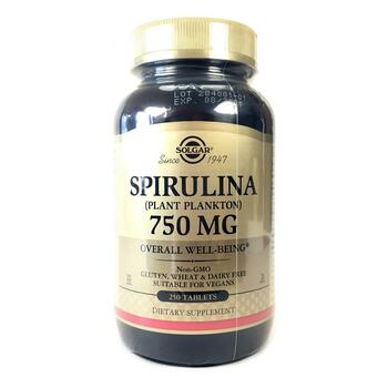 Купить Spirulina 750 mg 250 Tablets ( Спирулина 750 мг 250 таблеток)