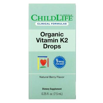Купить Organic Vitamin K2 Drops Natural Berry Flavor 7.5 ml (Органічн...