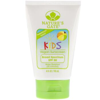 Купить Natures Gate Kids Broad Spectrum SPF 50 Sunscreen Lotion Fragr...