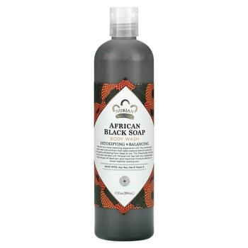 Купить Nubian Heritage Body Wash African Black Soap Detoxifying Balan...