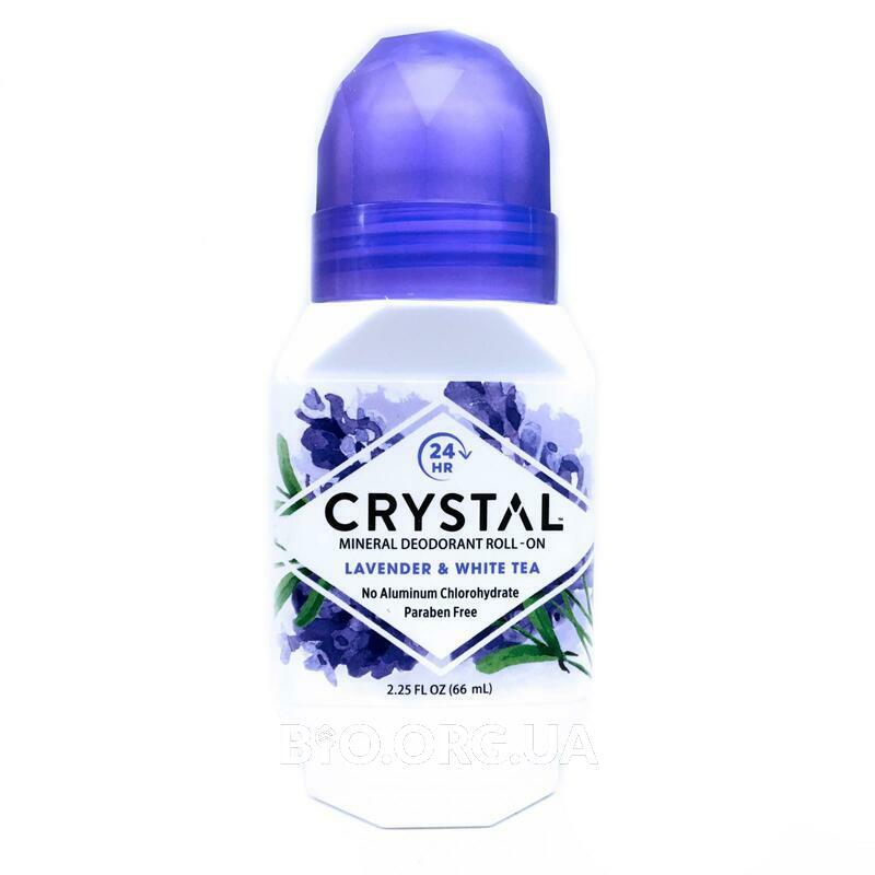 Кристалл минеральный дезодорант Лаванда и белый чай 66 мл фото товара