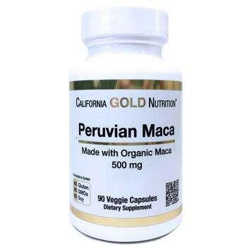 Купить California Gold Nutrition Peruvian Maca Organic Root 500 mg 90...