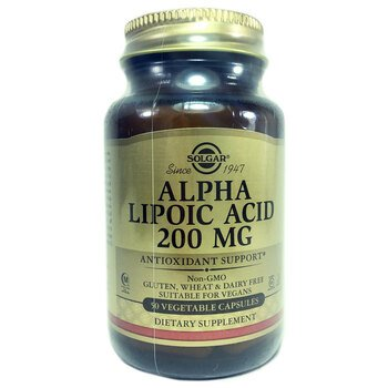 Купить Alpha Lipoic Acid 200 mg 50 Vegetable Capsules (Альфа Ліпоєва ...