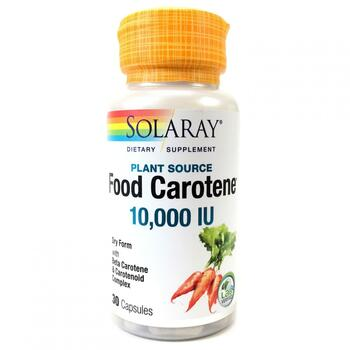 Купить Solaray Food Carotene Natural Source 10000 IU 30 Capsules
